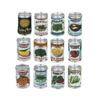 Sale $2 Off - 12 pc Assorted Vintage Food Cans - Product Image