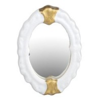 Dollhouse Gold Trim Bath Mirror - Product Image