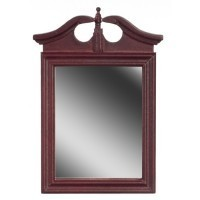 § Sale $2 Off - Dollhouse Mahogany Colonial Mirror - Product Image