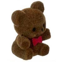 § Sale .40¢ Off - Dollhouse Flocked Teddie Bear - Product Image