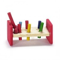 Dollhouse Pounding Toy - Wood - Product Image