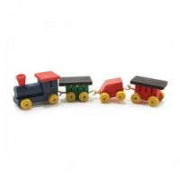 Dollhouse Miniature Wooden Train Set - Product Image