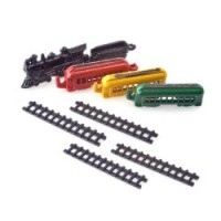 Dollhouse Miniature Toy Train Set - 9/pcs - Product Image