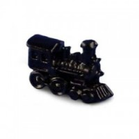 Dollhouse Toy Train Engine, Black - Product Image