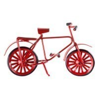 Dollhouse Miniature Bicycle - Red - Product Image