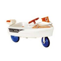 Dollhouse Jolly Roger Boat Pedal Car - Product Image
