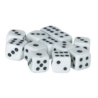 (**) Dollhouse Miniature Dice 6/pcs - Choice of Color -  - Product Image