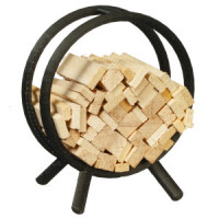 (*) Dollhouse Log Rack with Firewood - Product Image
