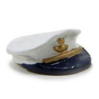 (*) Dollhouse Captains Hat - Unfinished - Product Image