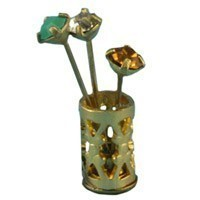 § Disc .60¢ Off - Dollhouse Hat Pins & Holder - Product Image