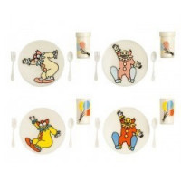 Dollhouse Children's Circus Dish Set - Product Image