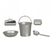 (*) White Dollhouse Sink Accessories (Kit) - Product Image
