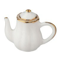 Dollhouse Porcelain Tea Pot - Product Image