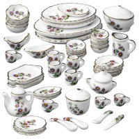 Dollhouse 50 pc Dish Set - Flowers - Product Image