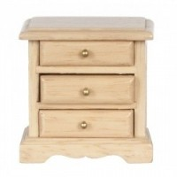 Dollhouse Night Stand w/Brass Knobs - Oak - Product Image