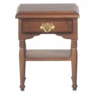 § Sale $2 Off - Dollhouse Walnut Open Night Stand - Product Image
