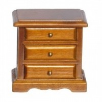 (§) Sale $2 Off - Walnut Night Stand w/Brass Knobs - Product Image