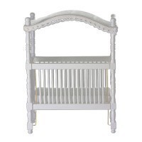 Dollhouse White Canopy Crib - Product Image