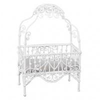 Dollhouse Faux Wicker Princess Crib - Product Image