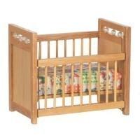 Dollhouse Oak Crib - Product Image