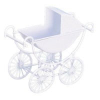 Sale $2 Off - White Baby Carriage - Product Image