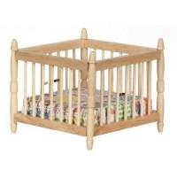 Dollhouse Playpen - Oak - Product Image
