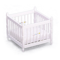 White Dollhouse Playpen - Product Image
