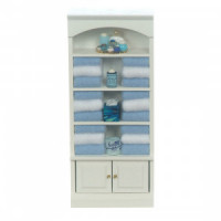(*) Dollhouse Filled Bathroom Shelf - Product Image