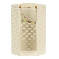 § Disc $5 Off - White Corner Shower Stall - Product Image
