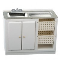 Dollhouse Modern White Laundry Sink - Product Image