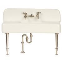 (*) Dollhouse White Porcelain Sink - Product Image