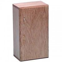 Dollhouse Single Door Oak Refrigerator - Product Image