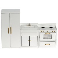 Dollhouse 3 Pc. White Kitchen Set - Product Image