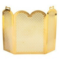 § Sale $2 Off - Dollhouse Arched Fire Screen - Brass - Product Image