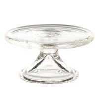 (§) Disc .60¢ Off - Dollhouse Glass Cake Stand - Product Image
