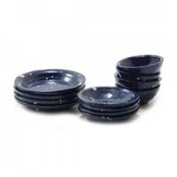 12 pc Dollhouse Enamelware Dishes - Product Image