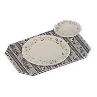 (§) Disc. .30¢ Off - 12 pc Faux Plate & Placemat Set - Product Image