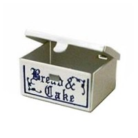 Dollhouse Metal Bread & Cake Box - Product Image