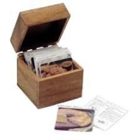(**) Dollhouse Recipe Box w/ Recipe Cards - Product Image