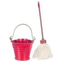 Dollhouse Floor Mop with Bucket - Product Image