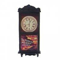 Sale $1 Off - Dollhouse Dr. Pepper Clock - Product Image