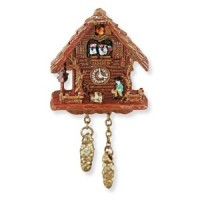 Dollhouse Black Forest Cuckoo Clock - Product Image