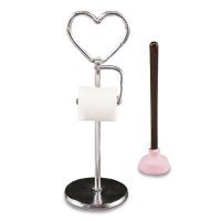 (**) Heart Toilet Paper Stand Set - Product Image