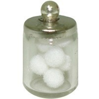 (**) Filled Bath Jar of Cotton Balls - Product Image
