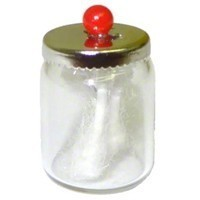 (**) Dollhouse Filled Bath Jar of Q-Tips - Product Image