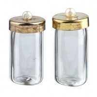 2 pc Glass Dollhouse Medicine Jars - Product Image