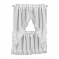 Dollhouse White Country Kitchen Curtains - Product Image