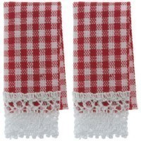 § Sale .60¢ Off - 2 Gingham Kitchen Dish Towels - Product Image