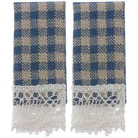 § Sale .60¢ Off - 2 Country Gingham Dish Towels - Product Image