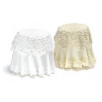 Dollhouse Skirted Lace Top Table- Choice of Color - - Product Image
